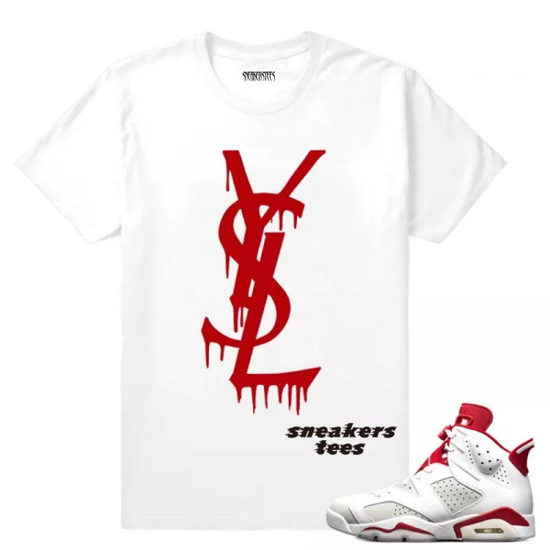 c3b1b794101c Prev Match Jordan 6 Alternate YSL Drip White T-shirt. Zoom