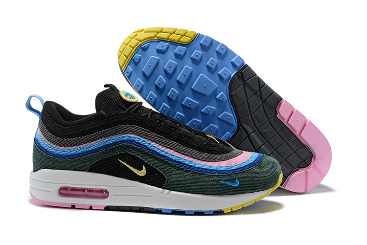 0ec8d5e2a4 Prev Nike Air Max 97 Max 1 Sean Wotherspoon Unisex Running Shoes Deep Green  Pink