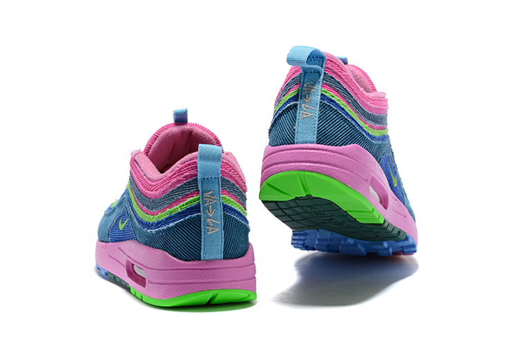 1895e3b2a2 ... Nike Air Max 97 Max 1 Sean Wotherspoon Unisex Running Shoes Pink Green