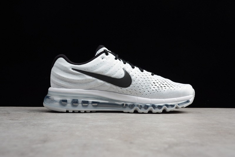 Nike Air Max 2017 Black White Breathable Running Shoes 849559 100