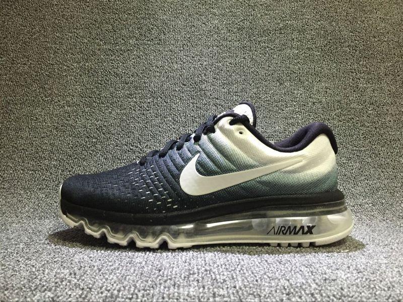 new concept 3df50 bccbc Nike Air Max 2017 Black White Womens Gradient Shoes 849560-010