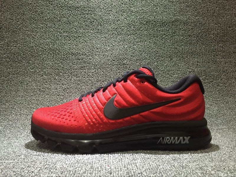 1a5f4d878e75 Nike Air Max 2017 Red Black Reflective Breathable 918091-993 - Febbuy