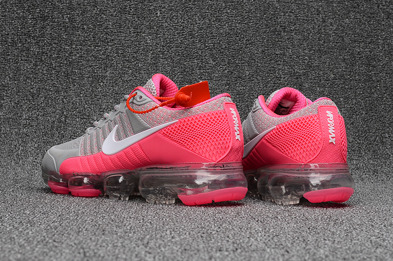 aeca8e4a55 Nike Air Max 2018 Running Shoes KPU Women Grey Pink 849558-018 - Febbuy