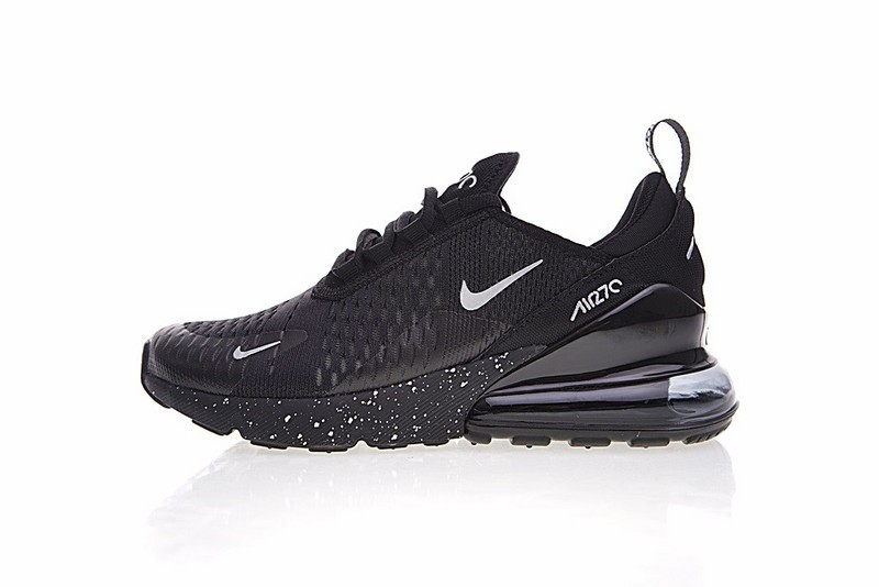 promo code c62cf 2bc68 Nike Air Max 270 All Black Noire Sports Running Shoes AH8050-202 ...