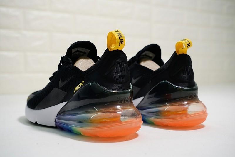 quality design 8465d a5d33 ... Nike Air Max 270 Betrue Black Blue Spectrum Orange AH8050-025