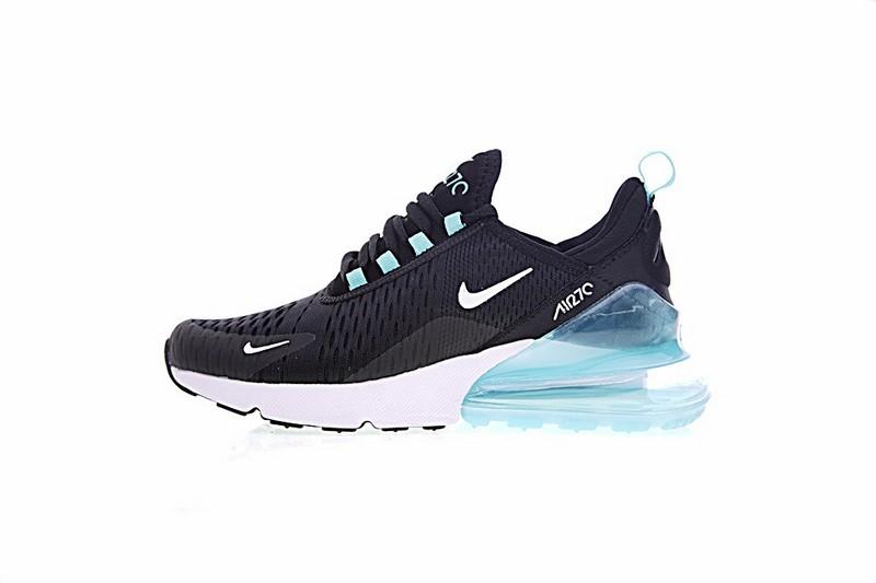 Nike Air Max 270 Black White Light Blue Sneakers AH8050 013