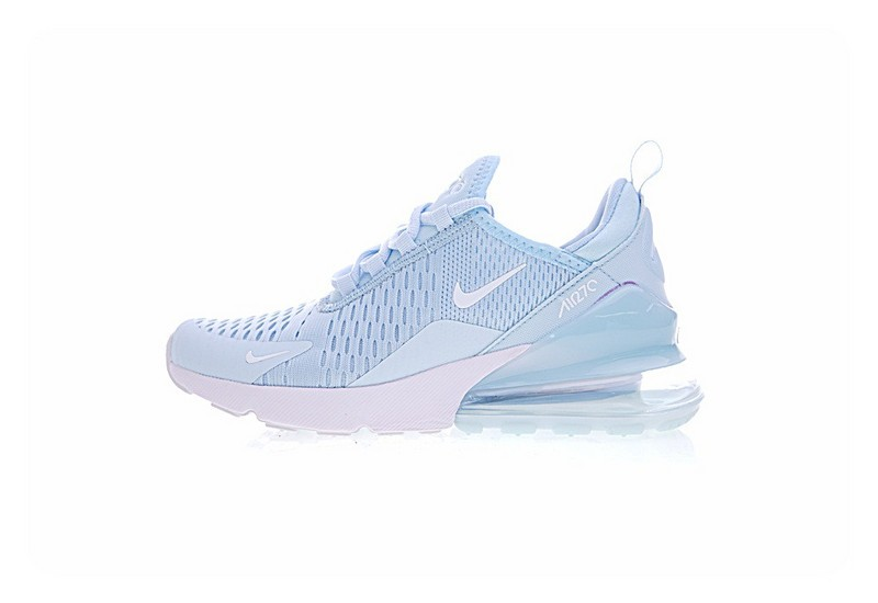 online store f1f69 3994d Prev Nike Air Max 270 Flyknit Light Bule White Athletic Shoes AH8050-410