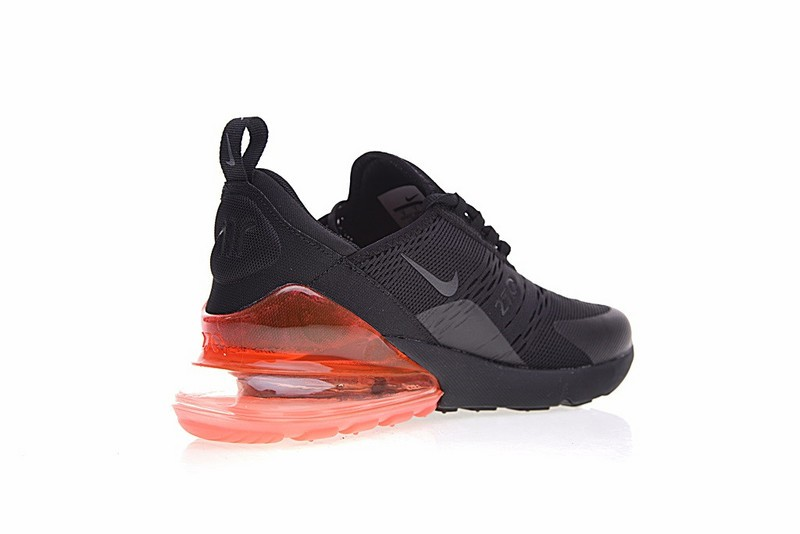 6dcb32a446 Nike Air Max 270 Flyknit Triple Black University Red AH8050-016 - Febbuy