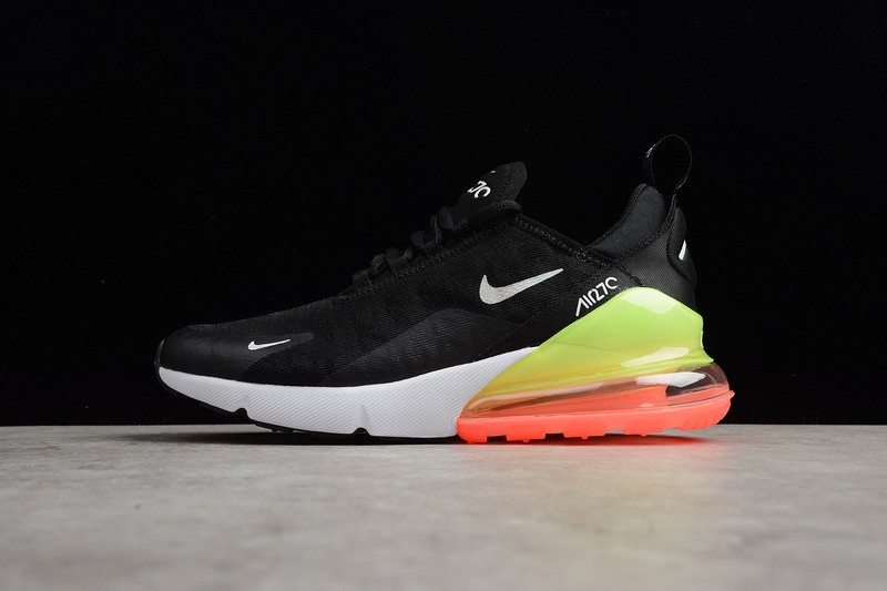 e2dacf4723 Nike Air Max 270 SE Black White Green Orange Running Shoes AQ9164 ...