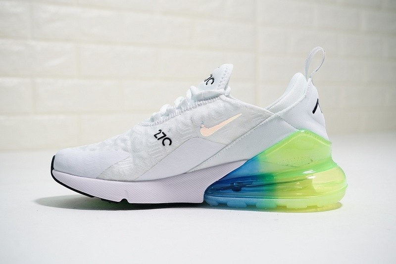 WomenMen Mens And WMNS Nike Air Max 270 White Blue Green Running Shoes AH6789 130 Latest