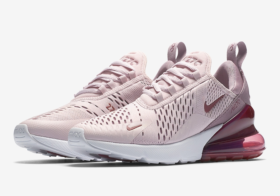 Nike AIR MAX 270 WOMENS Barely RoseVintage WineElemental Rose