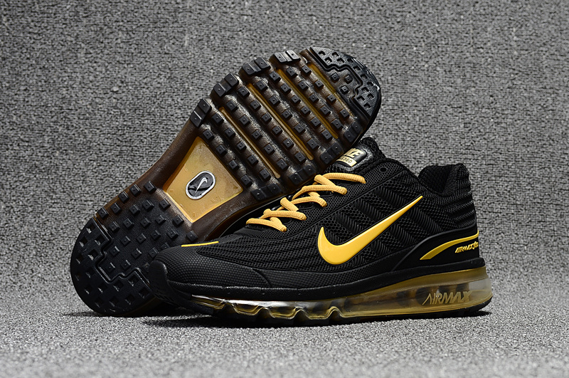697d6406402ef1 Nike Air Max 360 KPU Running Shoes Men Black Gold 310908-009 - Febbuy
