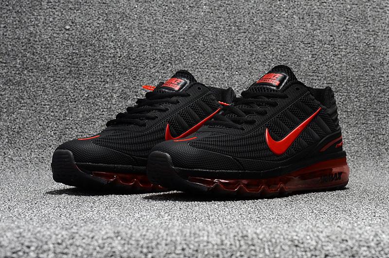 e63eac1f5c91 Nike Air Max 360 KPU Running Shoes Men Black Red 310908-016 - Febbuy