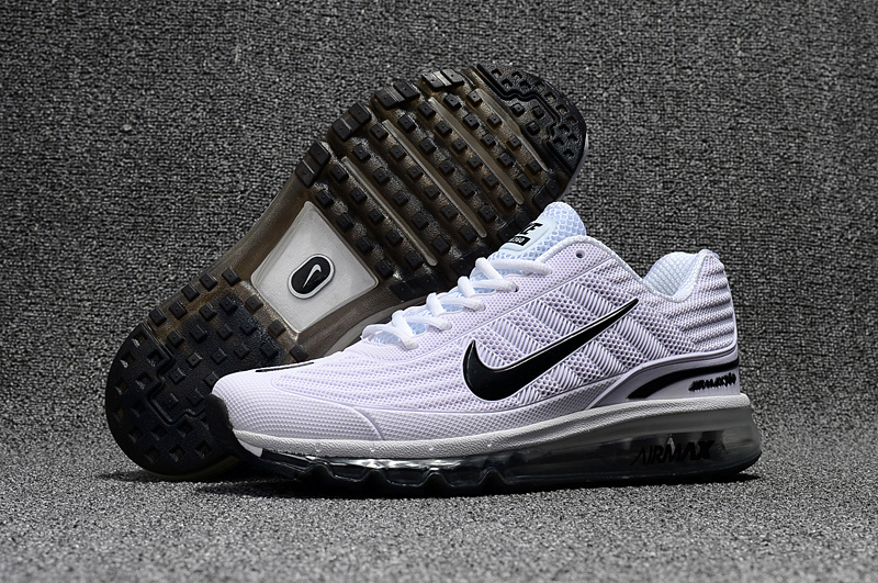 45575663d4 Nike Air Max 360 KPU Running Shoes Men White Black 310908-100 - Febbuy
