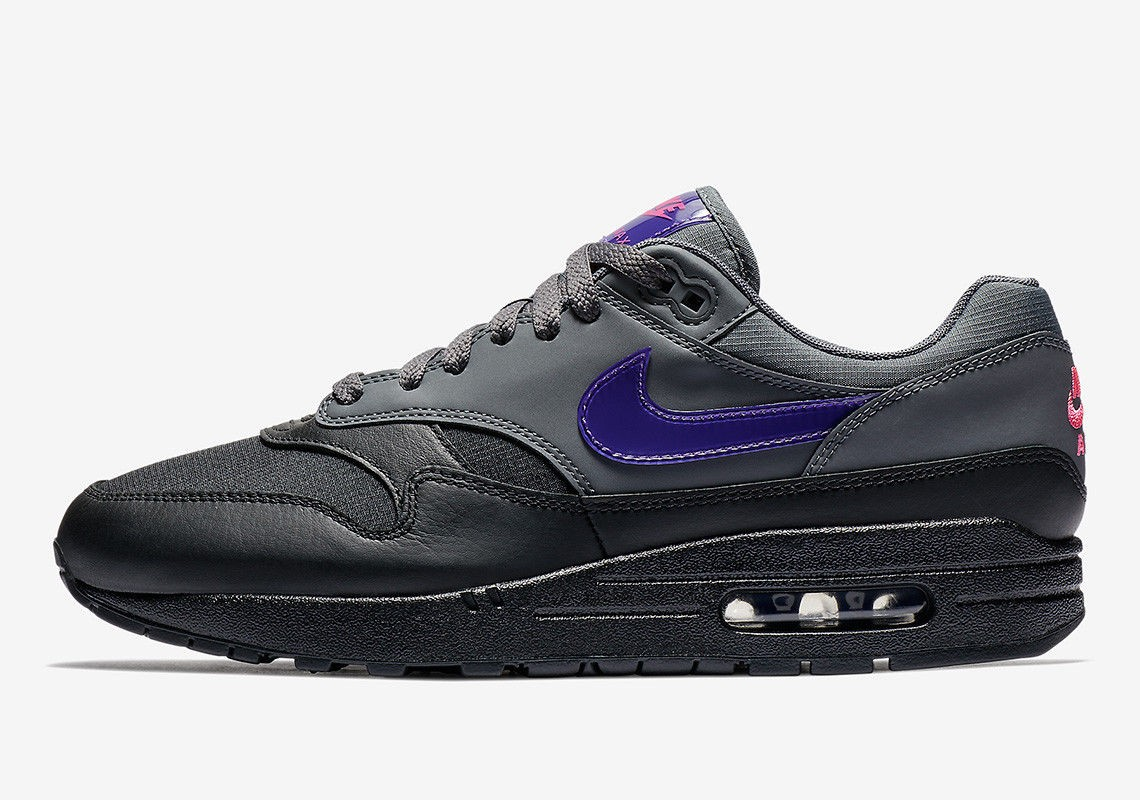 e9cd7f2520 Nike Air Max 1 Fierce Purple Black Grey Purple AR1249-002 - Febbuy