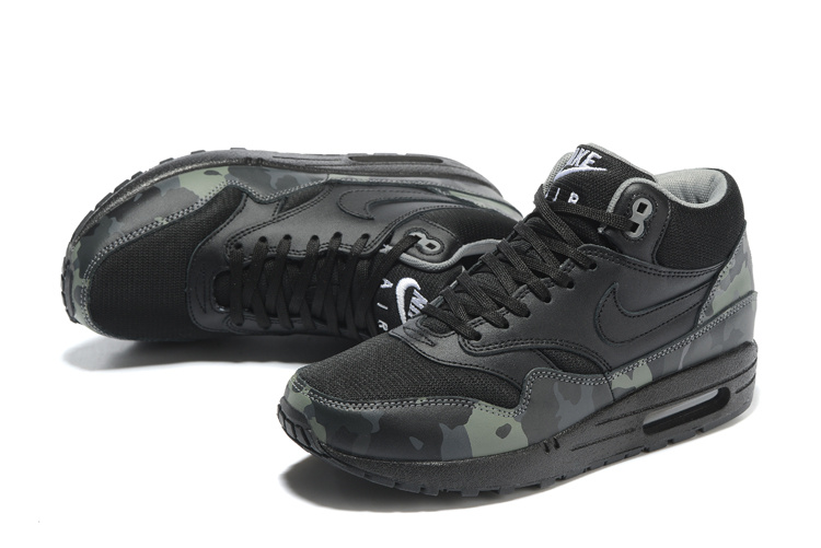 685192 Nike Running Men 1 Cool Camo Max Air Shoes Mid Black Fb 001 Grey White f6Y7vbgy