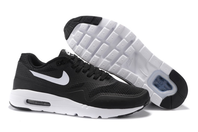 c2a1474d90 Prev Nike Air Max 1 Ultra Essential Running Sneakers Black White Swoosh  819476-108. Zoom
