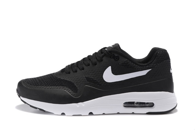 f626522b21 Nike Air Max 1 Ultra Essential Running Sneakers Black White Swoosh 819476-108  ...