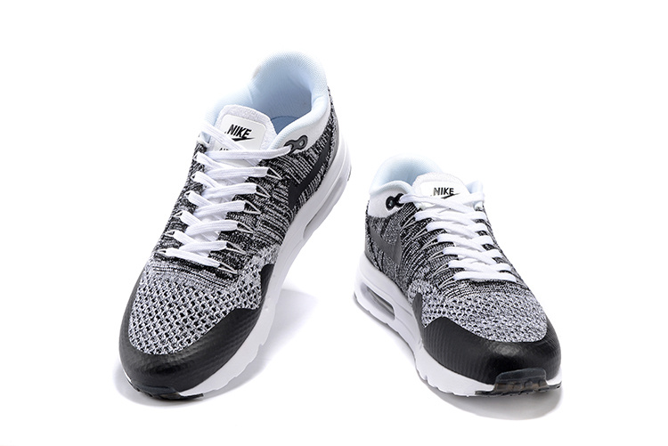 Nike Air Max 1 Ultra Flyknit White Black Oreo NEW DS NSW Running Shoes HTM  843384-100