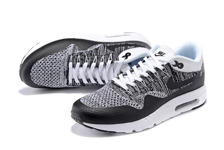 official photos 0d4ca 3812a ... Nike Air Max 1 Ultra Flyknit White Black Oreo NEW DS NSW Running Shoes  HTM 843384 ...