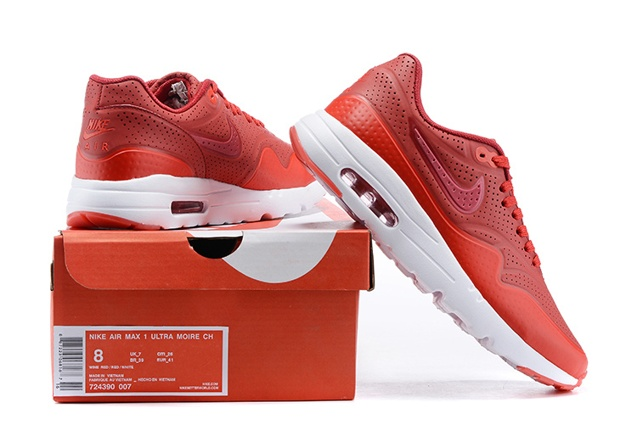 buy online 3b02a 25378 ... Nike Air Max 1 Ultra Moire Terra Red White 705297-611 ...