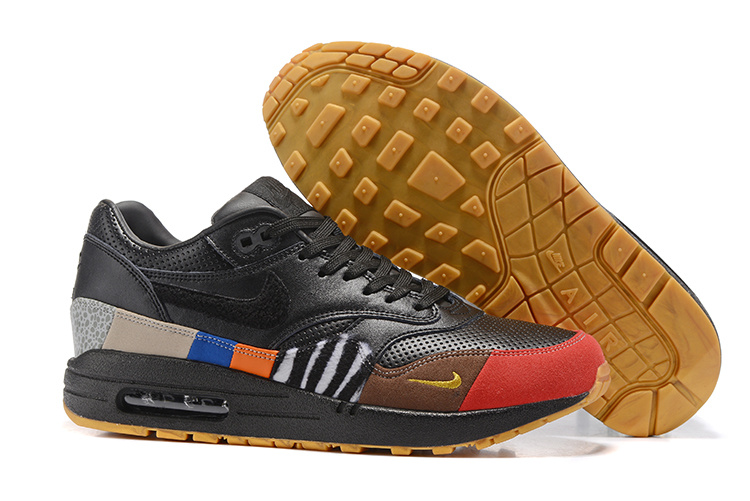 Nike Air Max 87 Colorful Orange Black Red Green Leopard Blue Yellow Unisex  Running Shoes