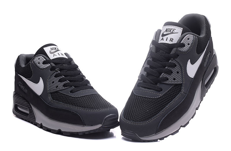 finest selection bafa7 0fde0 ... Nike Air Max 90 Classic black Carbon gray men Running Shoes 537384-063  ...