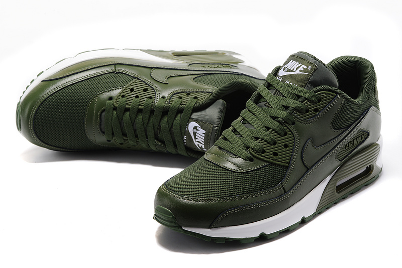 new concept 986fe 4f09a Nike Air Max 90 army green white men Running Shoes 537394-118 ...