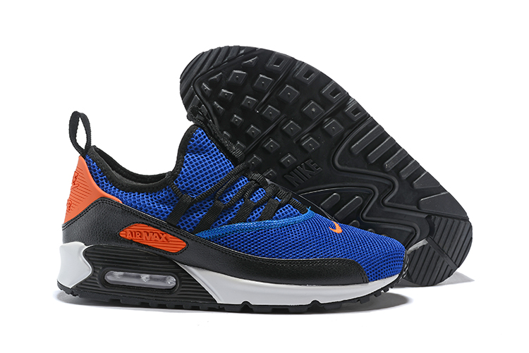 ad2841e103c Nike Air Max 90 EZ Running Men Shoes Royal Blue Orange - Febbuy