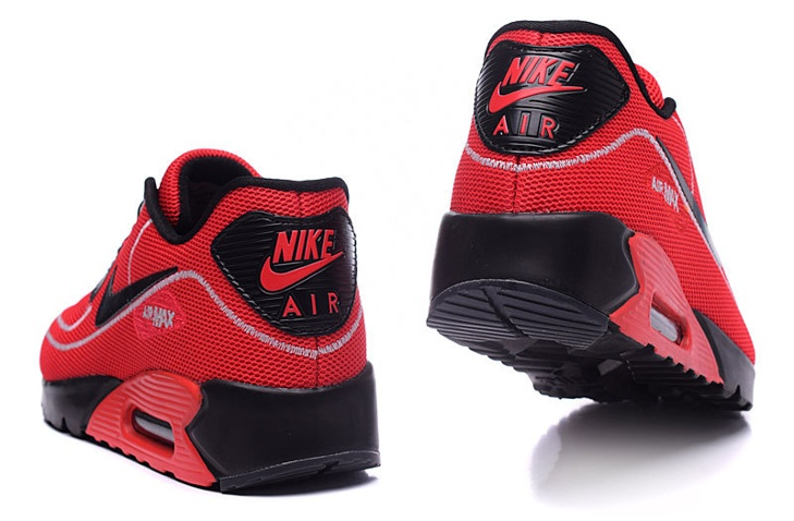 best service bc303 8d1a3 ... Nike Air Max 90 Fireflies Glow Men Running Shoes BR Red Black 819474-003  ...