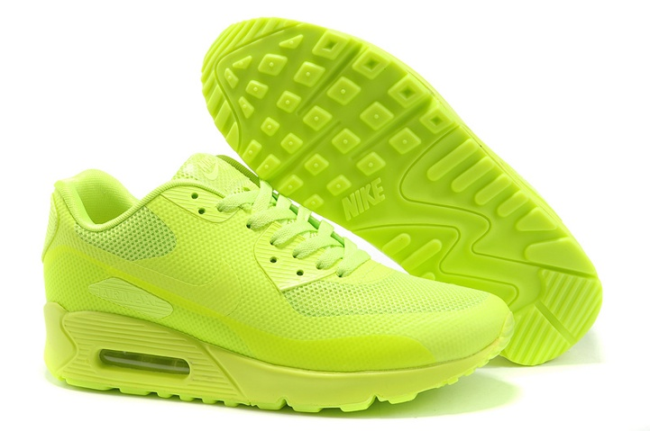 Nike Air Max 90 Hyp Prm All Flu Green Unisex Safari Running Shoes 454446 700