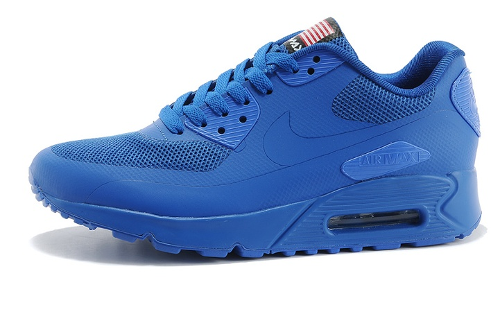 brand new a6948 f6a98 Nike Air Max 90 Hyperfuse QS Sport USA Royal Blue July 4TH Independence Day  613841-