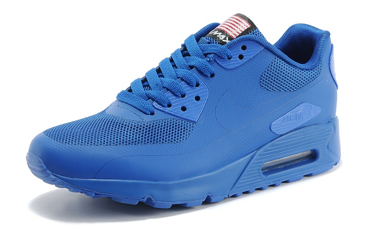 size 40 6e3d0 df076 ... Nike Air Max 90 Hyperfuse QS Sport USA Royal Blue July 4TH Independence  Day 613841- ...