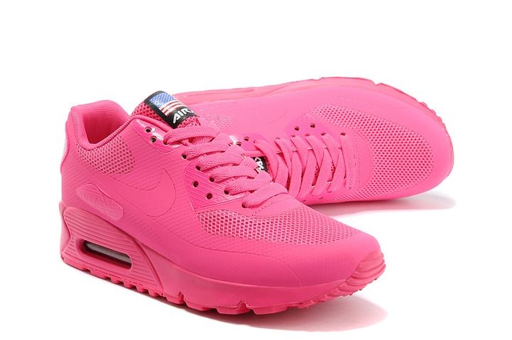 promo code a033b 4d69d ... Nike Air Max 90 Hyperfuse QS Women Shoes All Fushia Red July 4TH  Independence Day 613841 ...