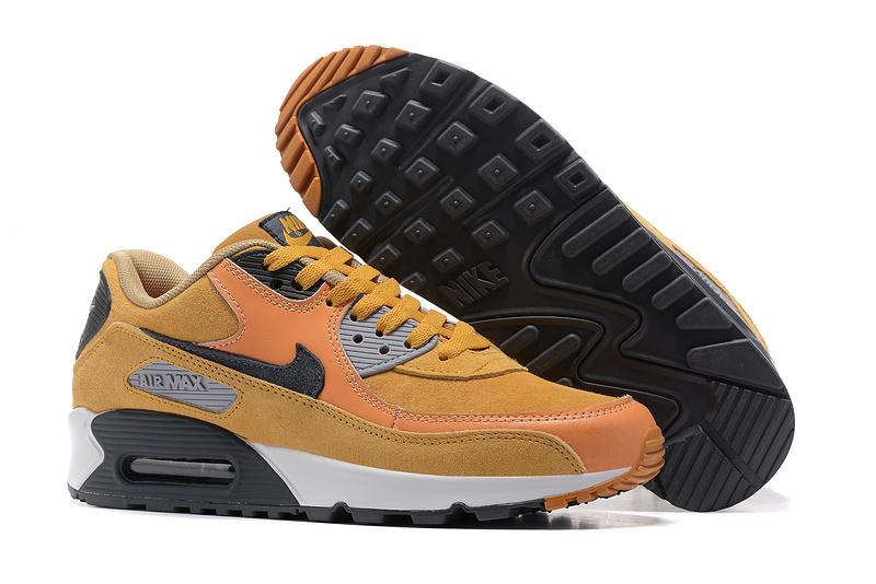 36cd419f7b5 Prev Nike Air Max 90 LTHR yellow carbon grey orange yellow Men Running Shoes  683282-021