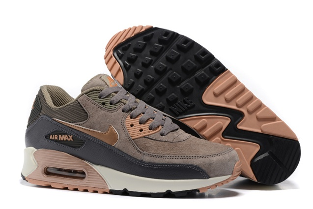 timeless design 99277 ab00e Prev Nike Air Max 90 Leather Women Men Shoes Red Bronze Sail Oatmeal  768887-201. Zoom