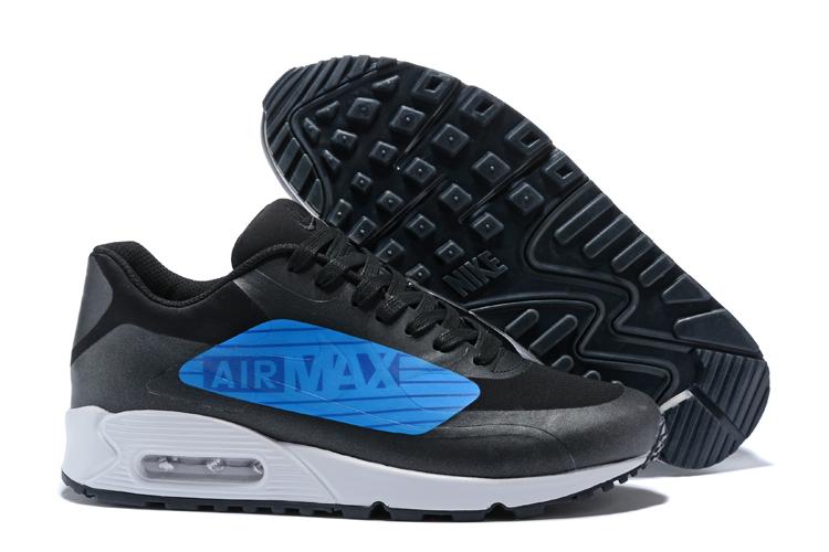 07d044a1ec Nike Air Max 90 NS GPX Black Blue Big Logo Men Walking Style Shoes ...