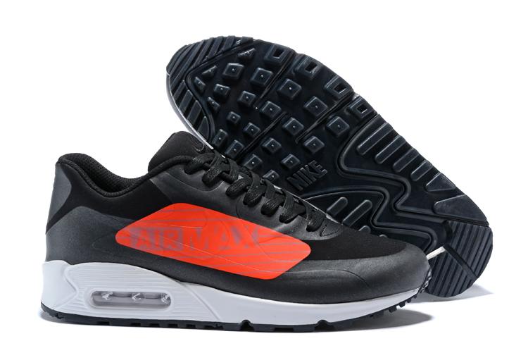 2dc1020425 Nike Air Max 90 NS GPX Black Bright Crimson Big Logo Men walking ...