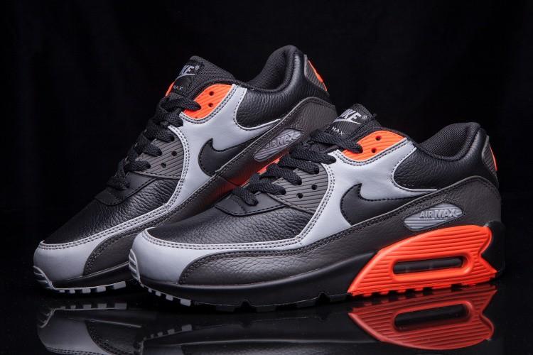 innovative design 0eb18 2afc9 ... Nike Air Max 90 Essential Black Wolf Grey Red 652980-002 ...