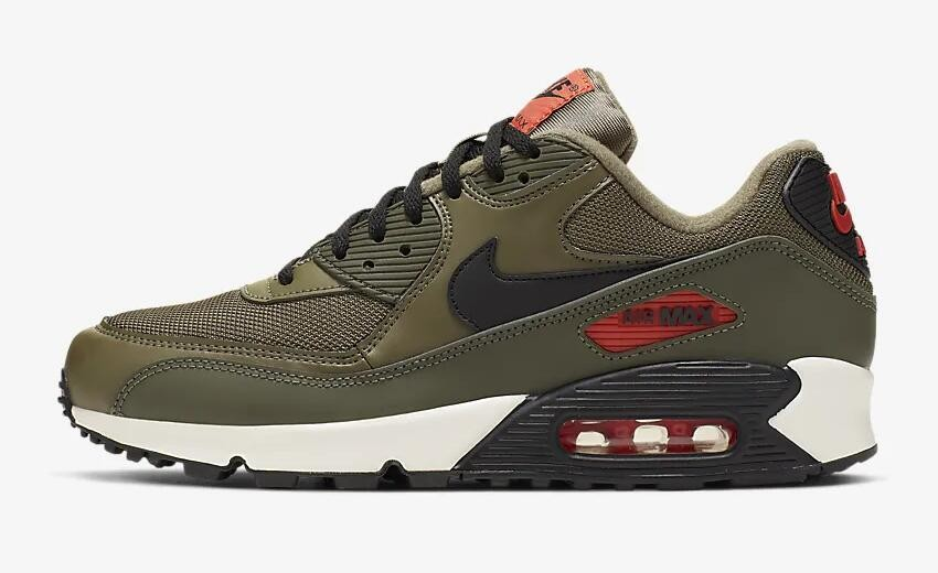 c0e40b74fe Prev Nike Air Max 90 Essential Medium Olive Team Orange Cargo Khaki Black  ...