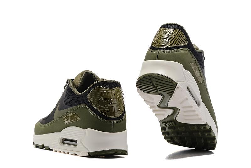 brand new 2e247 6ce24 ... Nike Air Max 90 Ultra 2.0 Essential black deep green white men Running  Shoes 875695- ...