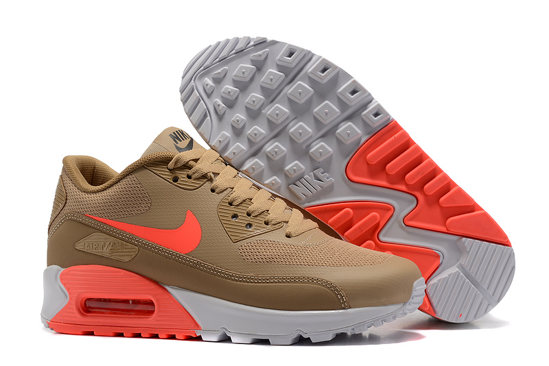 hot sales 40d89 f0d2a Prev Nike Air Max 90 Ultra 2.0 Essential brown orange white women Running  Shoes 881106-100. Zoom