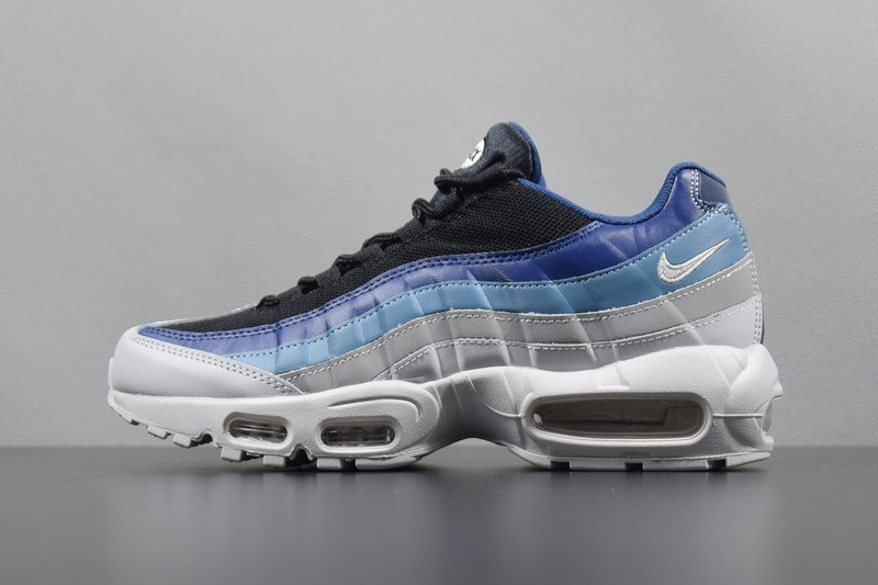 1768cffe8c4 Prev Nike Air Max 95 Essential Platinum Black Navy AQUA Blue 749766-026