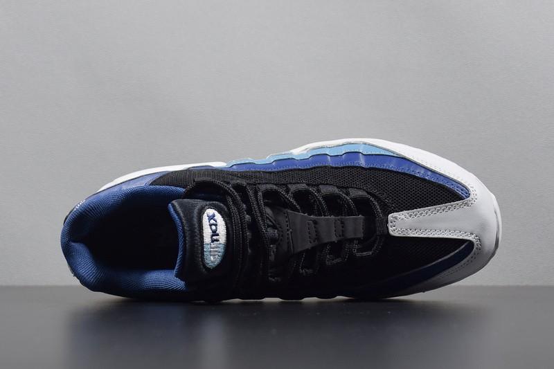 new styles 66d7f cb6d0 ... Nike Air Max 95 Essential Platinum Black Navy AQUA Blue 749766-026 ...