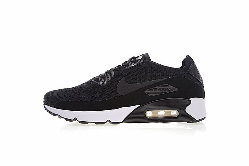 5f1a3539385e Nike Air Max 90 Ultra 2 Flyknit Triple Black White 875943-004 - Febbuy