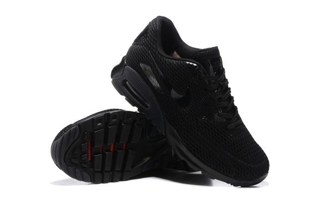 Nike Air Max 90 Ultra BR Breeze Triple Black Mens Women Running Trainers 725222 010