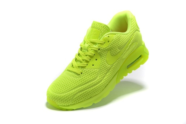 8d07065ba1 Nike Air Max 90 Ultra BR Volt Neon Volt Lime Running Sneakers Shoes 725222- 700 ...