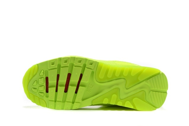 b8e104d3b9 ... Nike Air Max 90 Ultra BR Volt Neon Volt Lime Running Sneakers Shoes  725222-700
