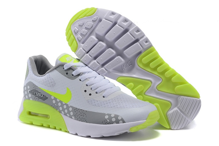 the latest b102b 5ade3 Prev Nike Air Max 90 Ultra BR WMNS Shoes White Grey Flu Green 725061-007.  Zoom