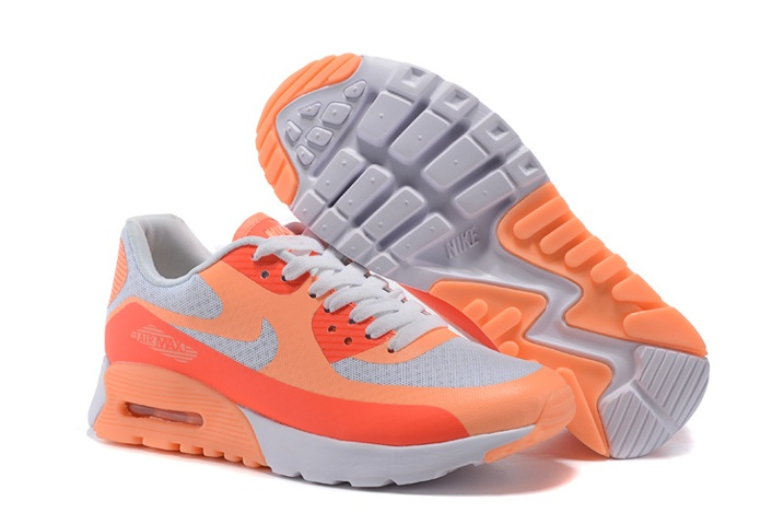 premium selection f008a a8b66 Prev Nike Air Max 90 Ultra BR WMNS Shoes White Sunset Glow Hot Lava ...